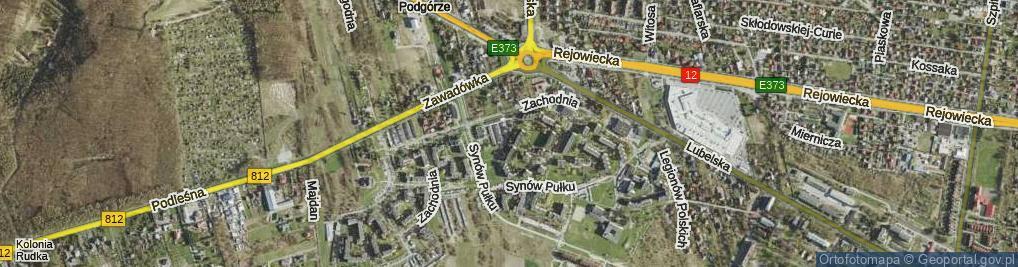 Zdjęcie satelitarne Maczka Stanisława, gen. ul.