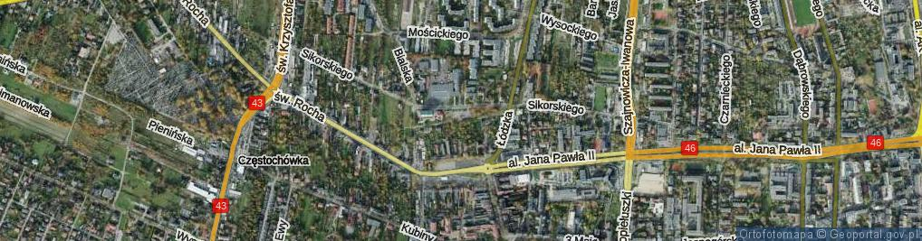 Zdjęcie satelitarne Marconiego Guglielmo ul.