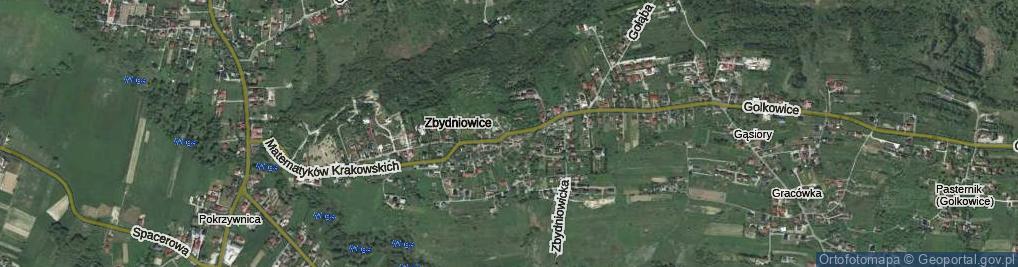 Zdjęcie satelitarne Matematyków Krakowskich ul.
