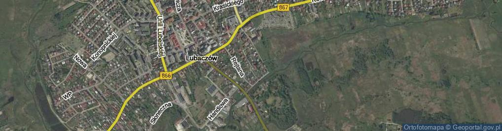 Zdjęcie satelitarne Mały Łążek ul.