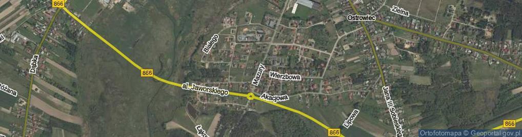 Zdjęcie satelitarne Mazury ul.