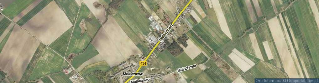 Zdjęcie satelitarne Małachowo ul.