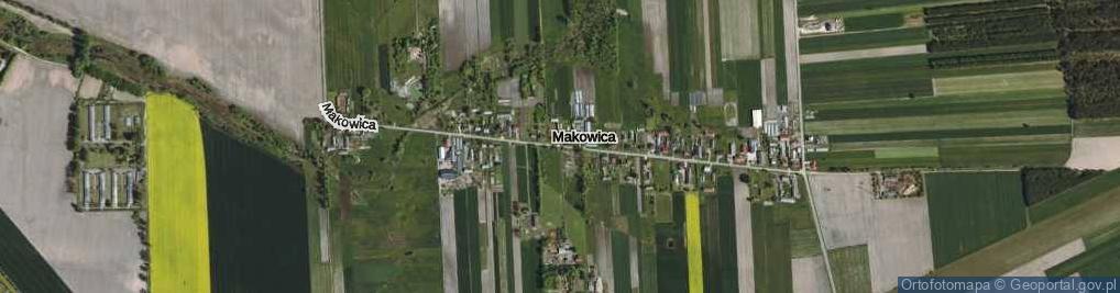Zdjęcie satelitarne Makowica ul.