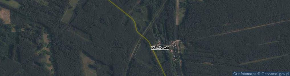 Zdjęcie satelitarne Marchewki ul.