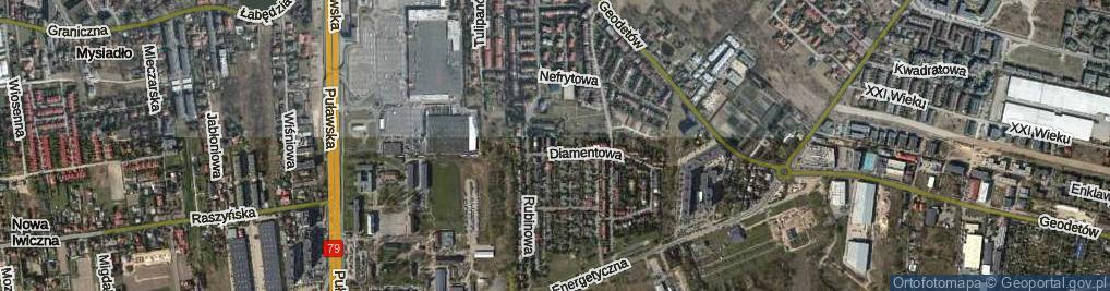 Zdjęcie satelitarne Marmurowa ul.