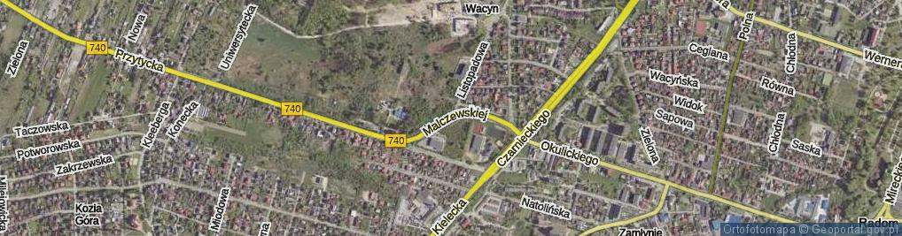 Zdjęcie satelitarne Malczewskiej Wandy ul.