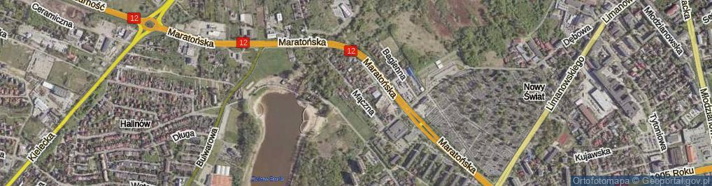 Zdjęcie satelitarne Mączna ul.