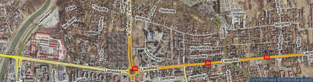 Zdjęcie satelitarne Małopolska ul.