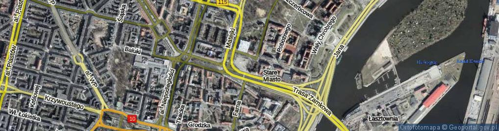 Zdjęcie satelitarne Mazowieckiego Tadeusza ul.