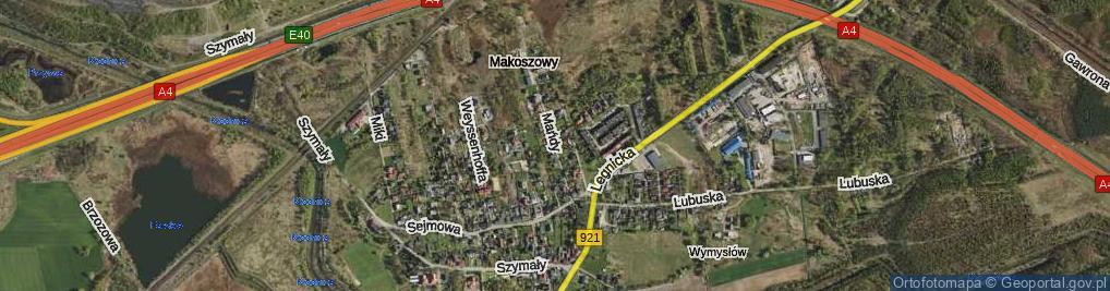 Zdjęcie satelitarne Mańdy Jakuba, ks. ul.