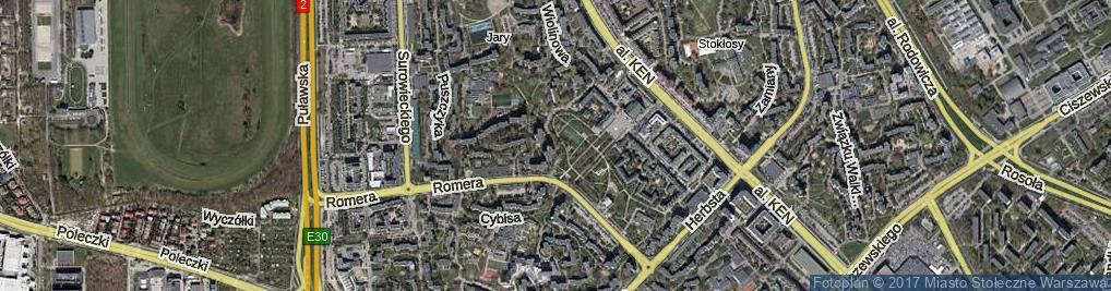 Zdjęcie satelitarne Melodyjna ul.