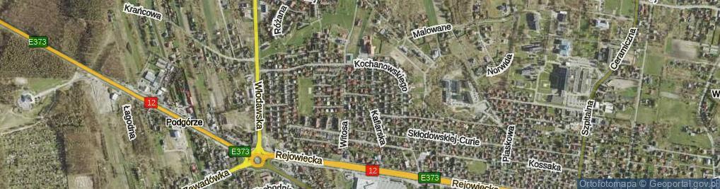 Zdjęcie satelitarne Mimozy ul.