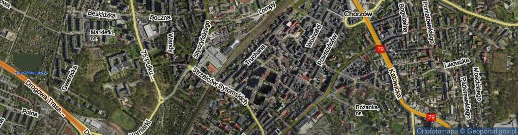Zdjęcie satelitarne Mielęckiego Andrzeja, dr. ul.