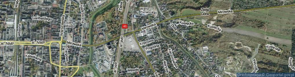 Zdjęcie satelitarne Mierna ul.