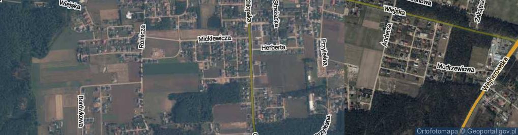 Zdjęcie satelitarne Miłosza ul.