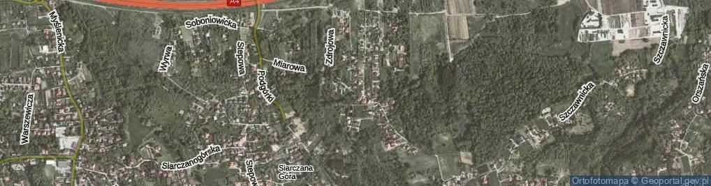 Zdjęcie satelitarne Miarowa ul.