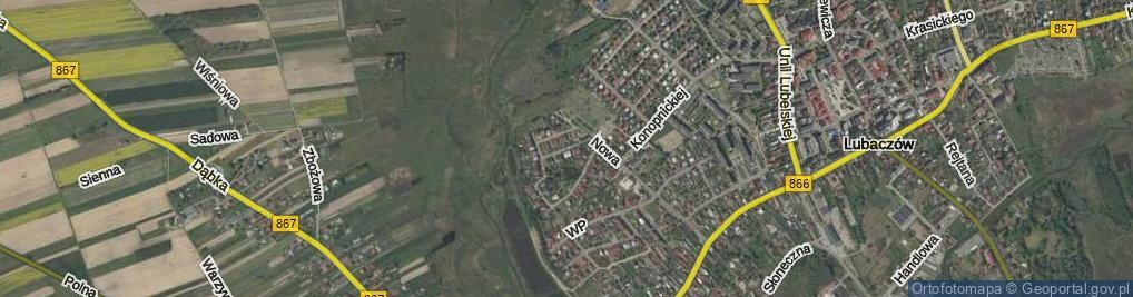 Zdjęcie satelitarne Misztala Franciszka, prof. ul.