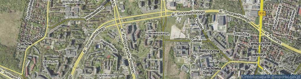 Zdjęcie satelitarne Milenijna ul.