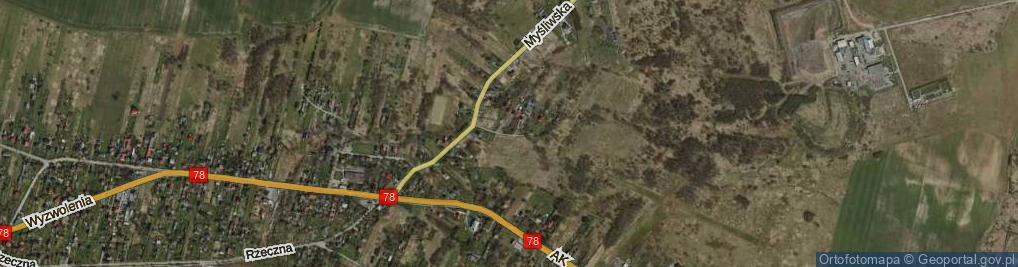 Zdjęcie satelitarne Miodowa ul.