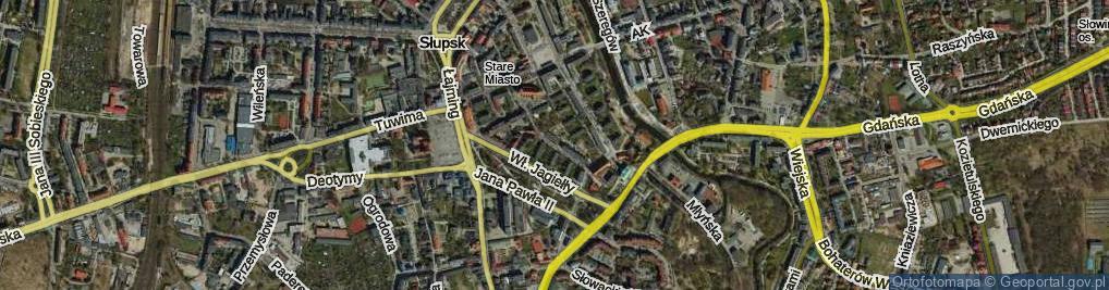 Zdjęcie satelitarne Mikołajska ul.