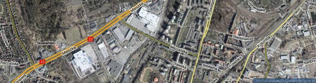 Zdjęcie satelitarne Milczańska ul.