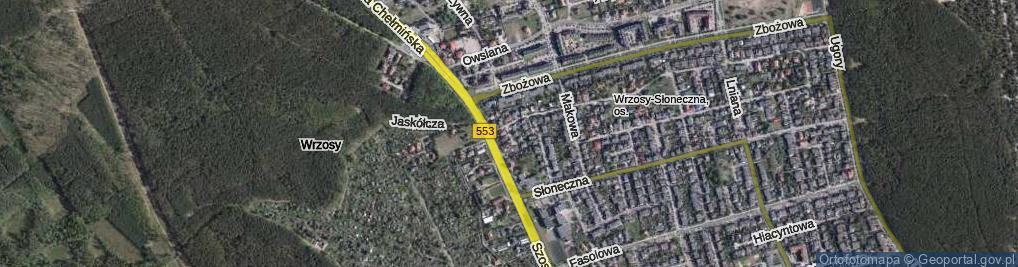 Zdjęcie satelitarne Miedza ul.