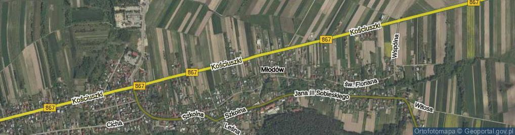 Zdjęcie satelitarne Młodów ul.