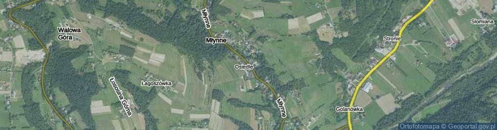 Zdjęcie satelitarne Młynne ul.