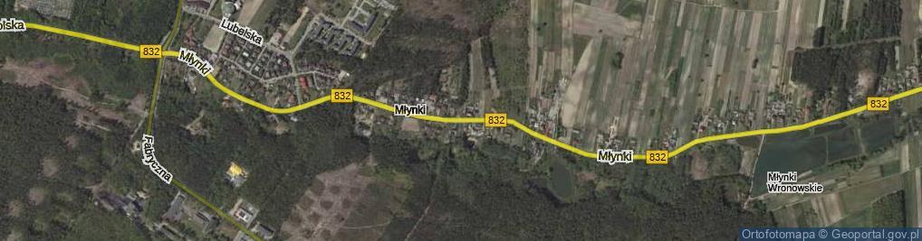 Zdjęcie satelitarne Młynki ul.