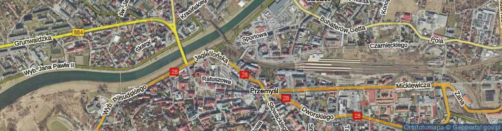 Zdjęcie satelitarne Mnisza ul.