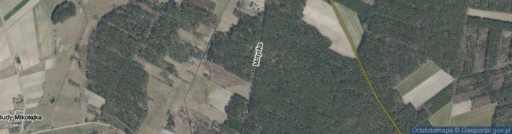 Zdjęcie satelitarne Motycka ul.