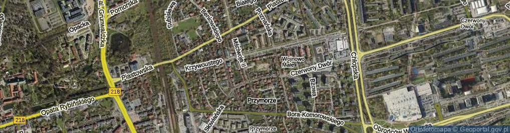 Zdjęcie satelitarne Morawska ul.