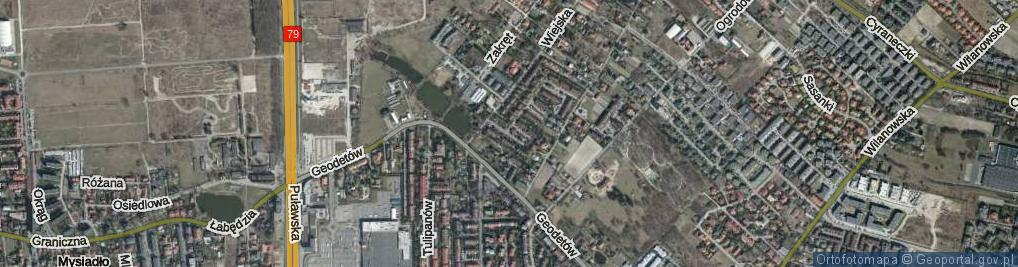 Zdjęcie satelitarne Montrealska ul.