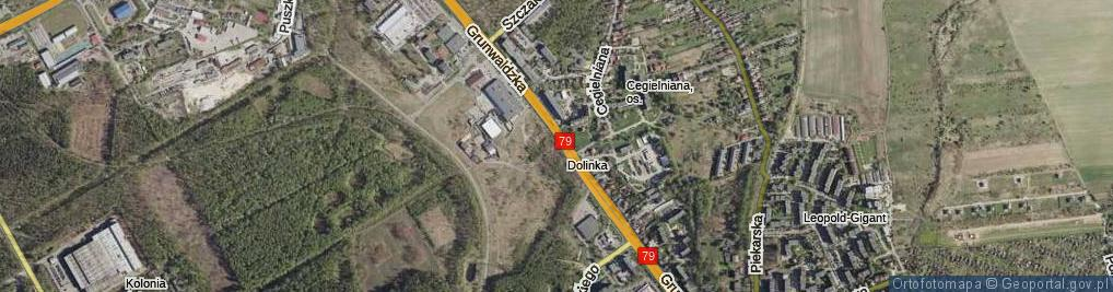 Zdjęcie satelitarne Mościckiego Ignacego ul.