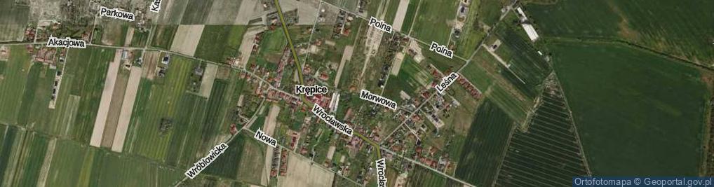 Zdjęcie satelitarne Morwowa ul.