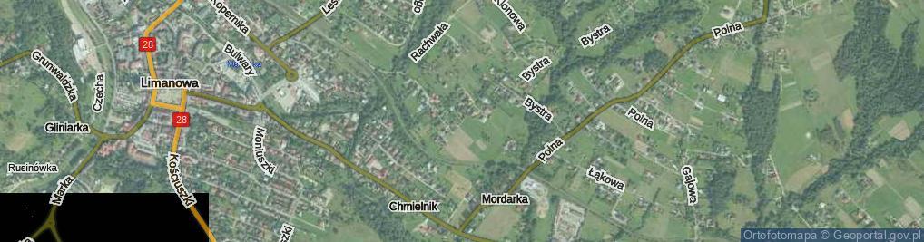 Zdjęcie satelitarne Mordarska ul.