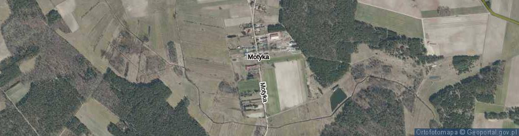 Zdjęcie satelitarne Motyka ul.