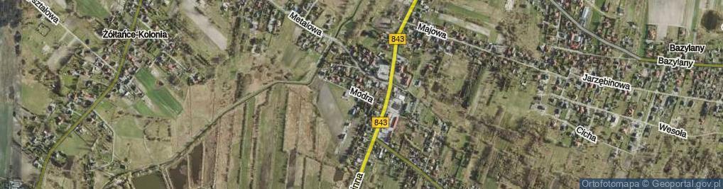 Zdjęcie satelitarne Modra ul.