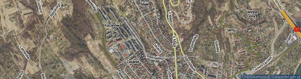 Zdjęcie satelitarne Mokra ul.