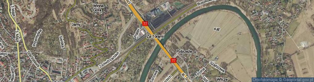 Zdjęcie satelitarne Most Brama Przemyska most.