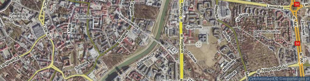 Zdjęcie satelitarne Most Narutowicza Gabriela most.