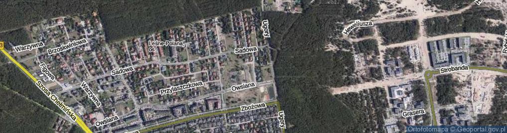 Zdjęcie satelitarne Modrakowa ul.