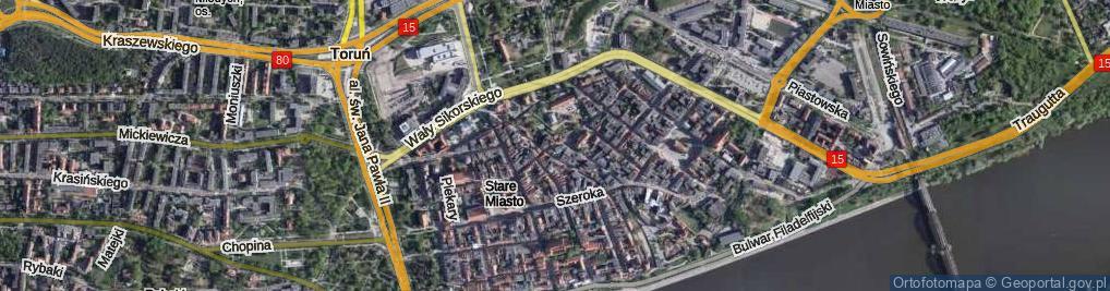 Zdjęcie satelitarne Most Pauliński most.