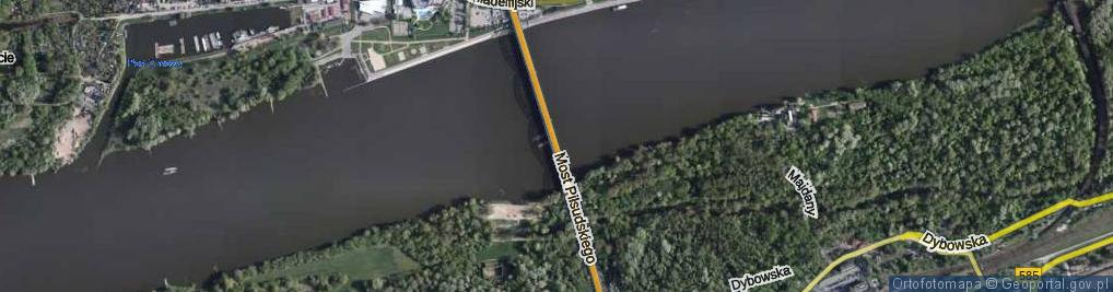 Zdjęcie satelitarne Most Piłsudskiego Józefa, marsz. most.