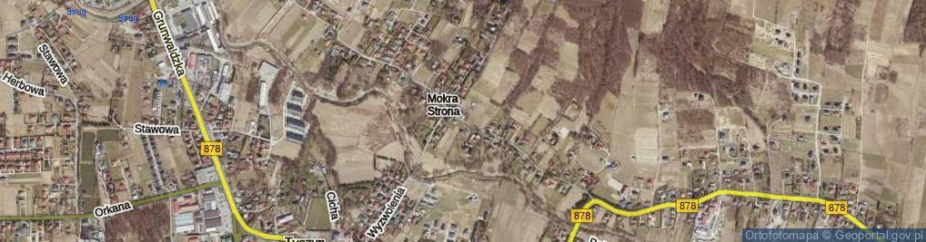 Zdjęcie satelitarne Mokra Strona ul.
