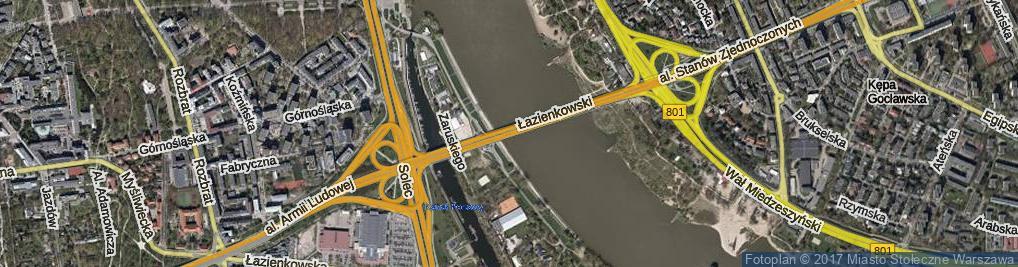 Zdjęcie satelitarne Most Łazienkowski most.