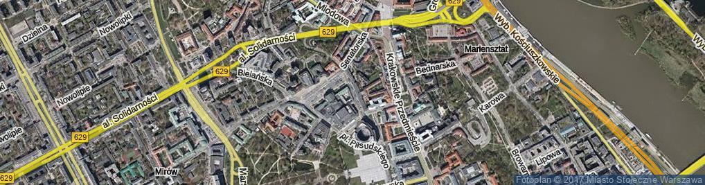 Zdjęcie satelitarne Moliera ul.