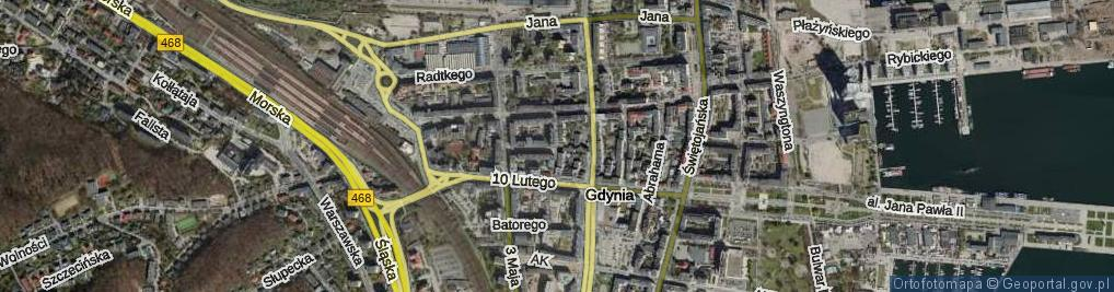 Zdjęcie satelitarne Mściwoja ul.