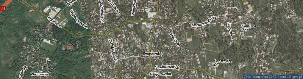 Zdjęcie satelitarne Myślenicka ul.