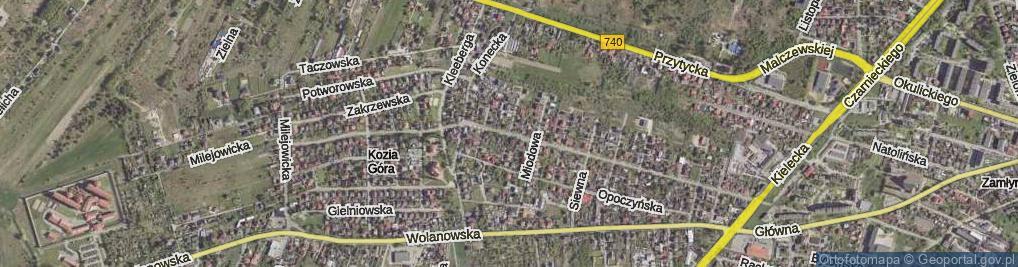 Zdjęcie satelitarne Mylna ul.